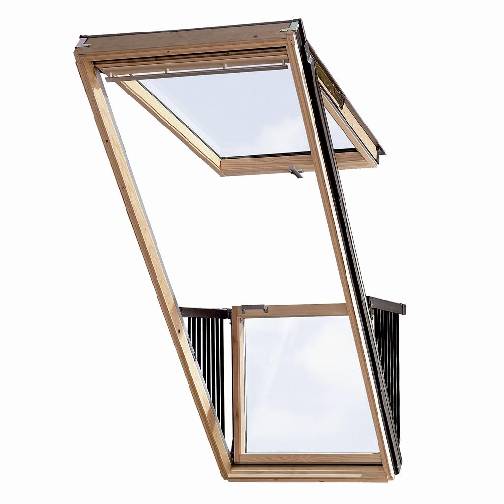 屋顶窗户瞬间变成阳台